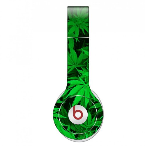 Marijuana Decal Skin For Beats Solo Headphones