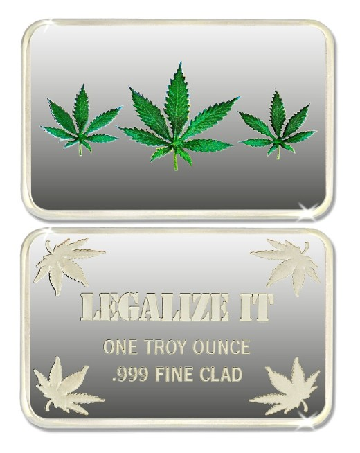 Marijuana Legalize It Silver Bar