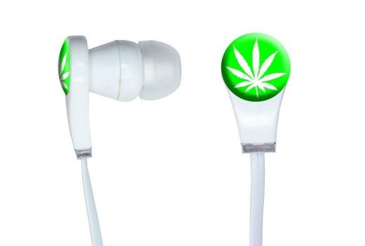pot leaf earbuds