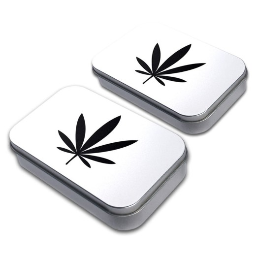 pot leaf stash tin