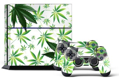 ps4 marijuana skin in white