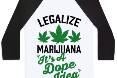 legalize marijuana baseball style shirt