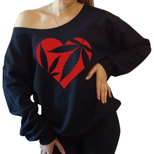Marijuana Heart Sweatshirt