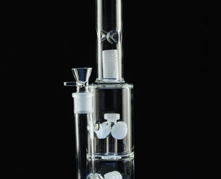 Gear Percolator Straight Tube Water Pipe