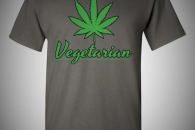 vegetarian marijuana leaf shirt