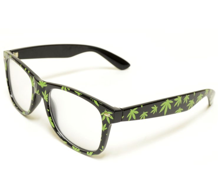 pot leaf diffraction glasses