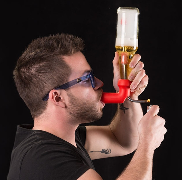 Image result for cannabis beer BONG