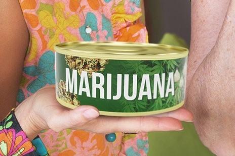 big can of marijuana