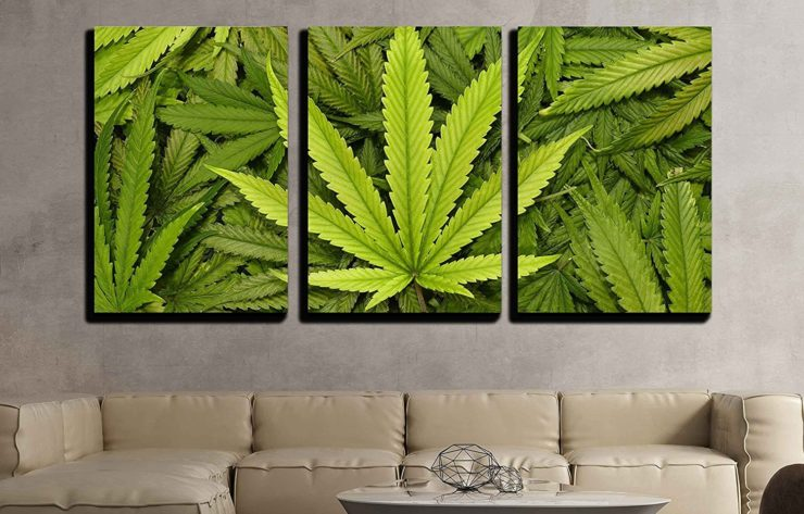 Marijuana Leaf Canvas Wall Art